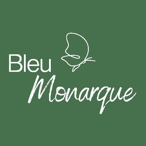 Logo Bleu Monarque Blanc